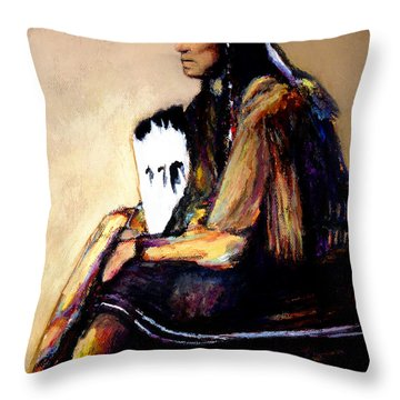 Last Comanche Chief Throw Pillow
