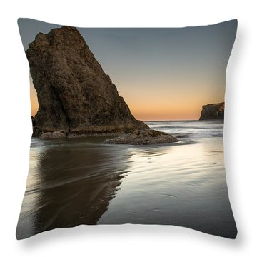 Last Day At Bandon Throw Pillow
