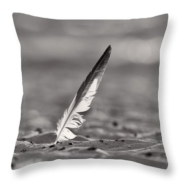 Last Days Of Summer In Black And White Throw Pillow by Sebastian Musial