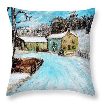 Last Days Of Winter Throw Pillow by Mauro Beniamino Muggianu