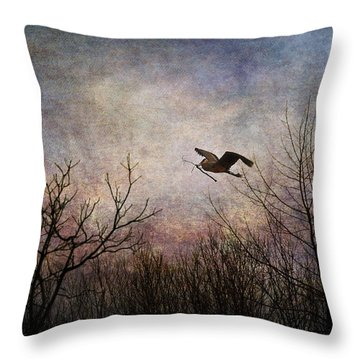 Last Delivery Of The Day Throw Pillow