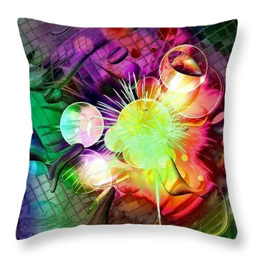 Throw Pillow featuring the digital art Last Dreams By Nico Bielow by Nico Bielow