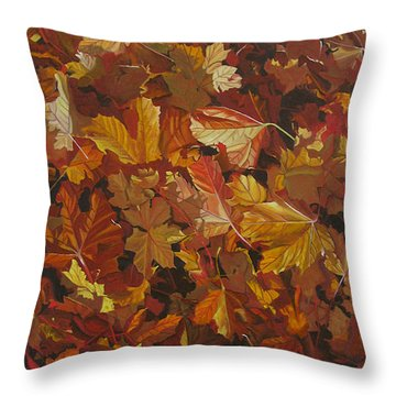Throw Pillow featuring the painting Last Fall In Monroe by Thu Nguyen