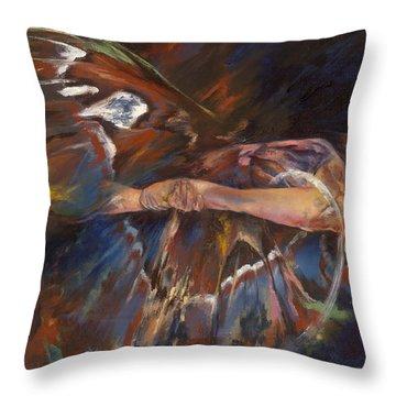 Last Flight Throw Pillow by Karina Llergo