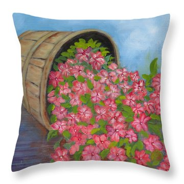 Last Flowers Of Summer Throw Pillow