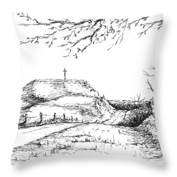Last Hill Home Throw Pillow