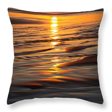 Last Hug Point Sunset 2014 Throw Pillow