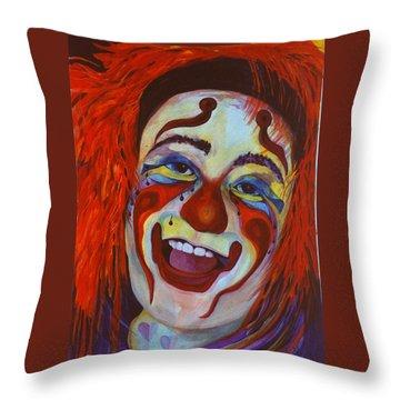Last Laugh Throw Pillow by Carolyn LeGrand
