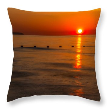 Last Light Throw Pillow by Adrian Evans