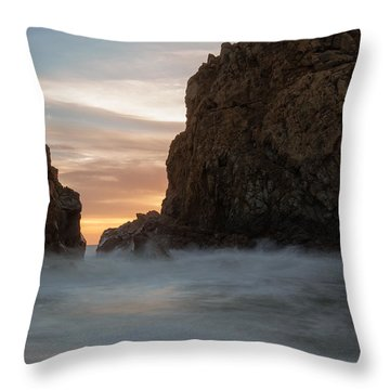 Last Light At Big Sur Throw Pillow
