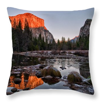 Last Light At Valley View Throw Pillow by Cat Connor