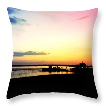 Throw Pillow featuring the photograph Last Light by Denyse Duhaime