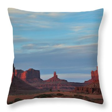 Throw Pillow featuring the photograph Last Light In Monument Valley by Alan Vance Ley