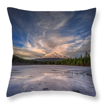 Last Light In The Pacific Northwest Throw Pillow