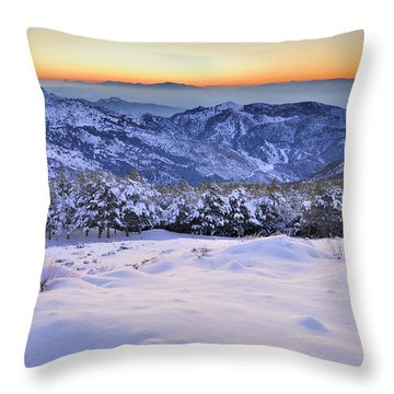 Last Light Of The Day Throw Pillow by Guido Montanes Castillo