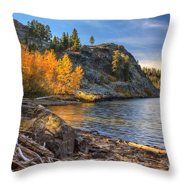 Last Light On Taylor Lake Throw Pillow by James Eddy
