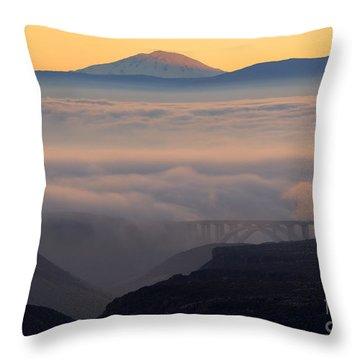 Last Light Over Mt. Adams Throw Pillow