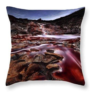 Blood Moon Throw Pillows