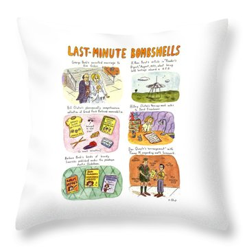 Last-minute Bombshells Throw Pillow