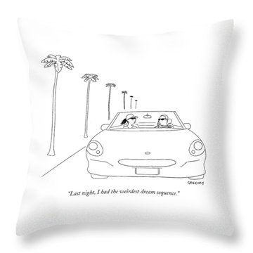 Last Night, I Had The Weirdest Dream Sequence Throw Pillow