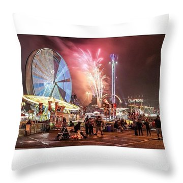 Fair Lights Throw Pillow