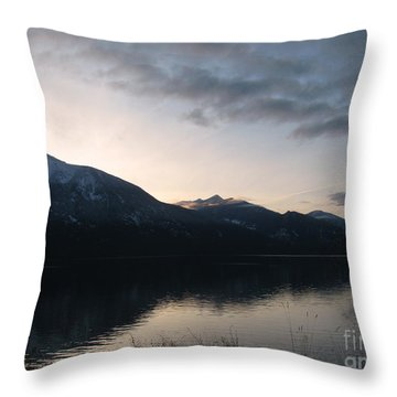 Last Rays Throw Pillow by Leone Lund