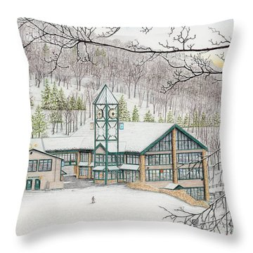 Last Run Of The Day Throw Pillow by Albert Puskaric