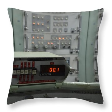 Last Second Of Earth Icbm Series Throw Pillow