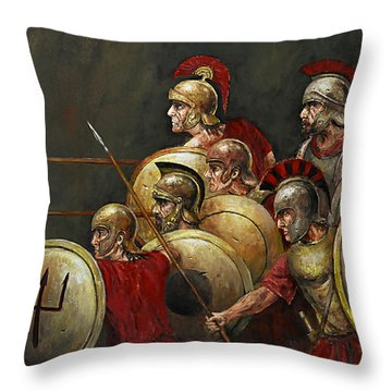 Last Stand Throw Pillow by Arturas Slapsys