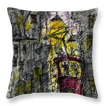 Last Stop Throw Pillow