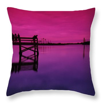 Last Sunset Throw Pillow by Beverly Stapleton