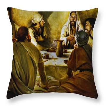 Last Supper Reproduction Throw Pillow