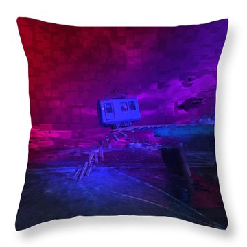 Last Train To . . . Throw Pillow by Kylie Sabra