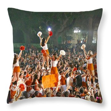 Last University Of Texas Hex Rally Throw Pillow