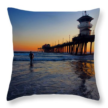 Last Wave Throw Pillow