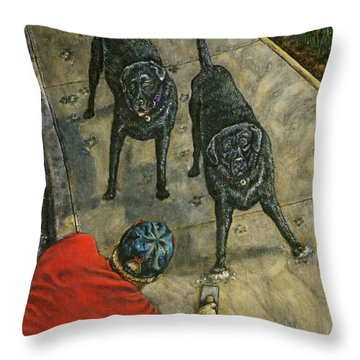 Lasting Impressions Throw Pillow by Linda Simon
