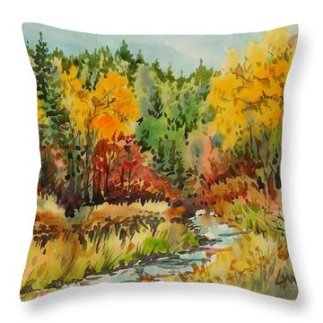 Latah Creek Fall Colors Throw Pillow