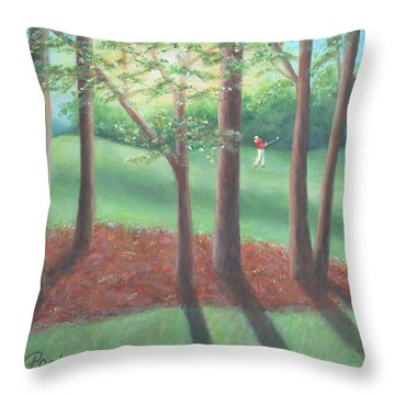 Late Afternoon At Eagle Ridge Throw Pillow