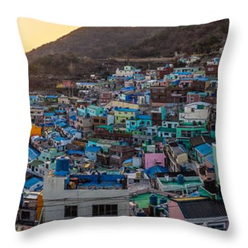 Late Afternoon In Gamcheon Throw Pillow