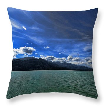 Late Afternoon On Harrison Lake Bc Throw Pillow
