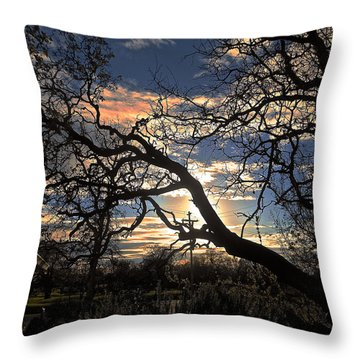 Late Afternoon Sky Throw Pillow by John Norman Stewart