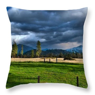 Late Afternoon Weather Throw Pillow