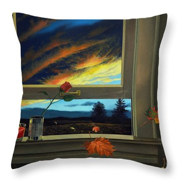 Late Autumn Breeze By Christopher Shellhammer Throw Pillow by Christopher Shellhammer