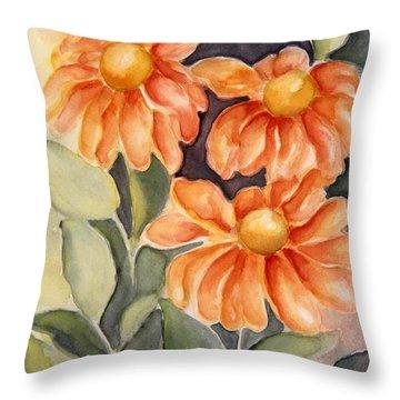 Late Autumn Flowers Throw Pillow