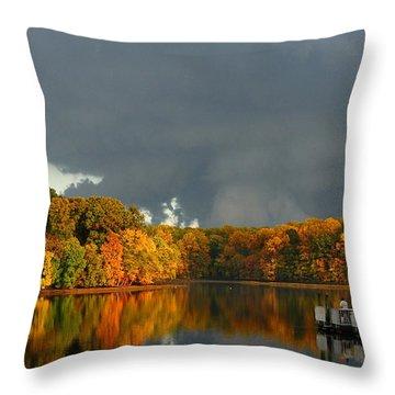 Late Autumn Storm Throw Pillow