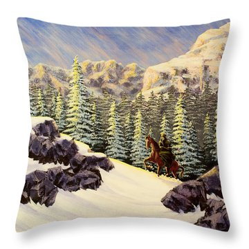 Late Crossing Throw Pillow