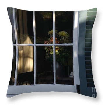 Late Day Sun Bouquet Throw Pillow by Living Color Photography Lorraine Lynch