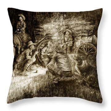 Late Dinner Throw Pillow
