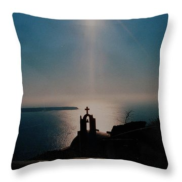 Late Evening Meditation On Santorini Island Greece Throw Pillow by Colette V Hera  Guggenheim