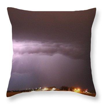 Late Evening Nebraska Thunderstorm Throw Pillow